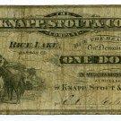 Wisconsin, Rice Lake, Barron County, Knapp, Stout & Co., 1 Dollar, ND(1870s-80s)