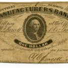 Virginia, Richmond, The Southern Manufacturers Bank, $1, May 1, 1861