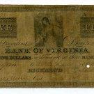 Virginia, Richmond, Bank of Virginia Norfork Branch, $5, March 9, 1851?