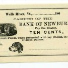 Vermont, Wells River, No Issuer, 10 Cents, 186- (1860s), Unissued