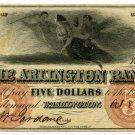 Washington, D.C., Arlington Bank, $5, Oct 8, 1855