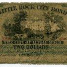 Arkansas, Little Rock City Bond, $2, Sept 1, 1869?
