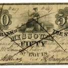 Missouri, St Louis, Bank of the State of Missouri, $50, Jan 1, 1847