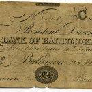Maryland, Baltimore, Bank of Baltimore, $2, March 22, 1842