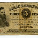 Massachusetts, Boston, Isaac T Campbell, 3 Cents, No Date (1862-64)