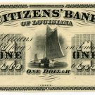 Louisiana, New Orleans, Citizens Bank, $1, 18-- (1859-60)