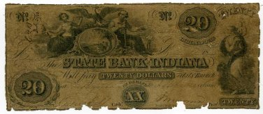 Indiana, Indianapolis, State Bank of Indiana, $3, January 1, 1851