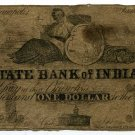 Indiana, Indianapolis, State Bank of Indiana, $1, January 18??