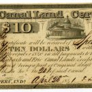 Indiana, Peru, Canal Land Certificate, $5, April 5, 1842