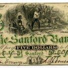 Maine, Sanford, Sanford Bank, $5, March 4, 1861