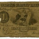 Indiana, Indianapolis, State Bank of Indiana, $1, June 20, 1843, IN-1-C520