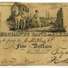Virginia, Alexandria, The Merchants Bank of Alexandria, $5, July 13, 1815
