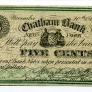 New York, New York City, Manchester & Stackellar, 5 cents, November 20, 1862
