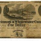 Ohio, Cincinnati, The Cincinnati & Whitewater Canal Co., $1, March 14, 1840