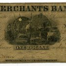 Indiana, LaFayette, Merchants Bank, $1, December 15, 1852