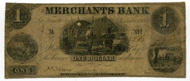 Indiana, LaFayette, Merchants Bank, $1, December 15, 1852