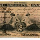 Indiana, Terre Haute, Commercial Exchange Bank, $2, Aug 3rd, 1858