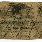 North Carolina, Elizabeth, The Farmers Bank of N.C., $6, July 1, 1855