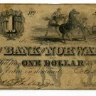 Ohio, Norwalk, The Bank of Norwalk, $1, October 20, 1846