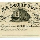 Ohio, New London, H.H. Robinson, $1, 185- (1850's), Unissued