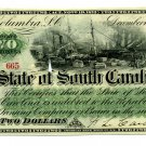 State of South Carolina, Columbia, $2, December 1, 1873
