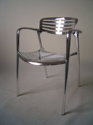 Set of 4 Contemporary Aluminum Dining or Kitchen Chairs