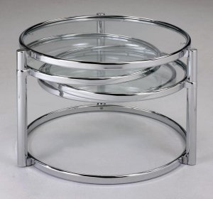 Modern Contemporary Chrome Cocktail/Coffee Table