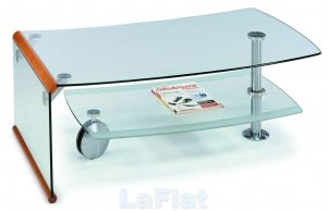 Modern Contemporary Glass Motion Coffee Table