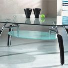 Asian Cuba Glass Coffee Table
