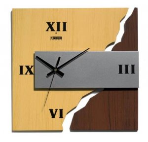 Modern Contemporary Mod Mountain Path Wall Clock