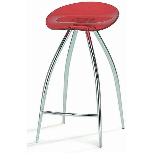 Modern Swivel Acrylic Bar Stool Red Blue Black Clear