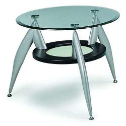 ENTA-L Modern Contemporary Glass Top End or Side Table