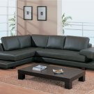 Modern Contemporary Dark Brown Leather Sectional