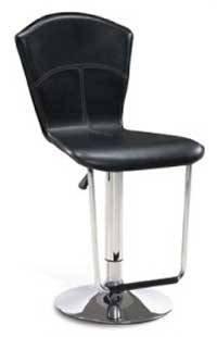 Modern Contemporary Leather Bar Stools Set Barstools