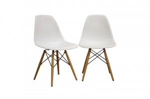 Retro Eiffel White Side Dining Chairs New Chair Set