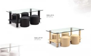 Modern Contemporary Glass Coffee Cocktail Table NEW
