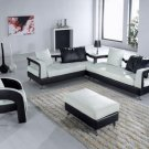 5577 Modern Black Sectional Sofa Set Contemporary NEW