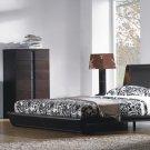 Modern Zen Leather Headboard Bed Bedroom Furniture Set