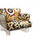 Modern Kartell Style Acrylic Fabric Armchair Chair