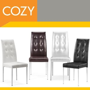 Modern Tufted Dining Side Leather Parsons Chairs Set
