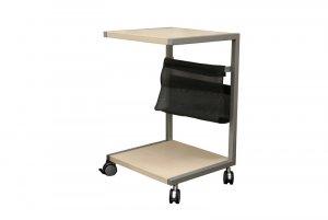 Modern Wood End Side Table Magazine Holder Rack Tables