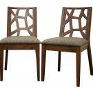 Unique Danish Mid Modern Style Dining Chairs Set of 2