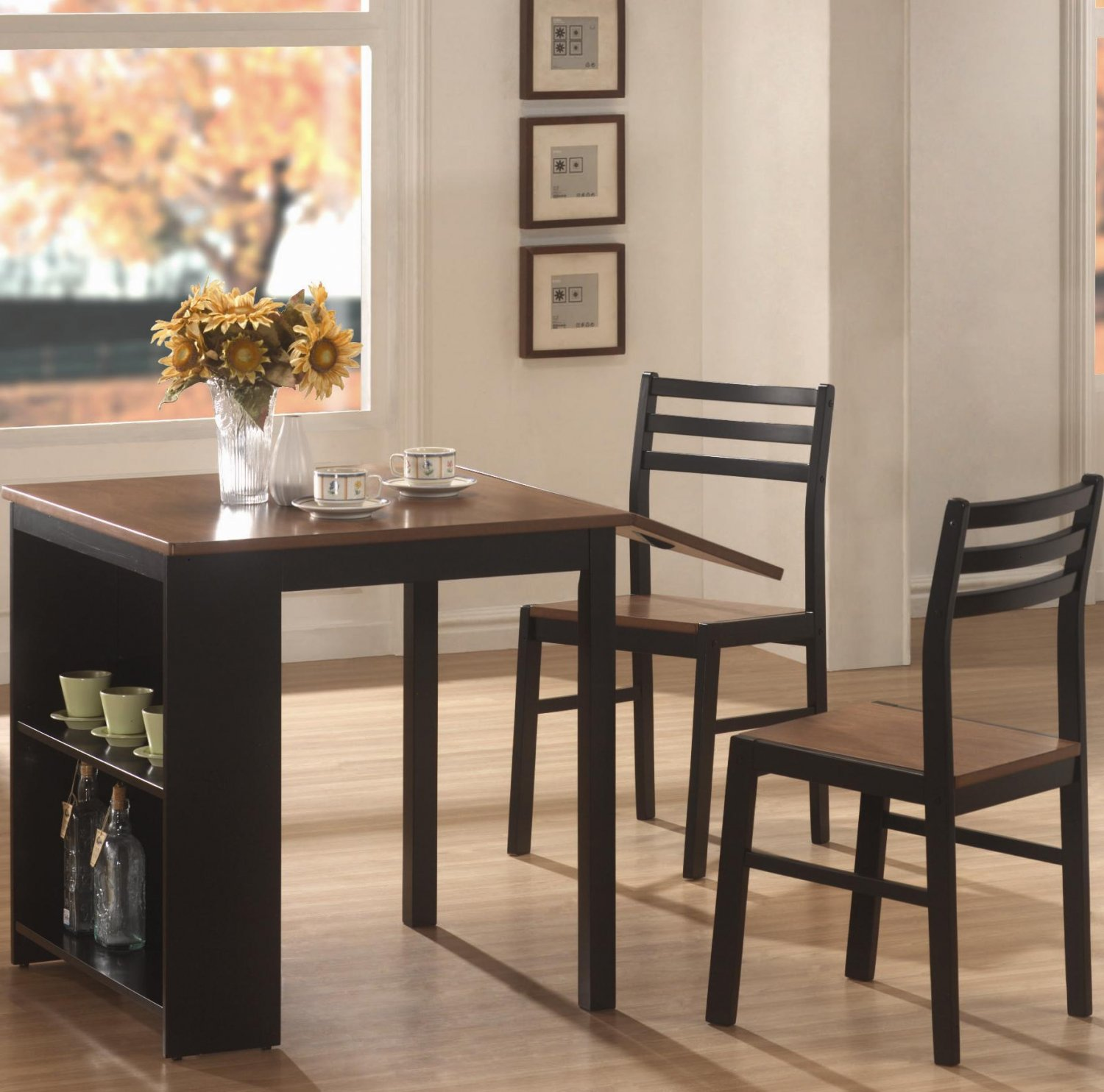 Dining Room Sets For Small Apartments: Modern Small Dining Table Set Breakfast Nook Wood