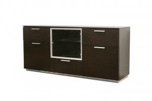 Credenza Dark Brown : Modern wenge buffet table sideboard credenza dark brown