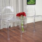Mid Modern Clear Chair Ghost Acrylic Set of 2 Patio