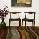 Elbow Style Dining Chair Mid Century Modern Side Accent