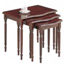 Cherry Wood Set of 3 Nesting Stacking Tables End Side