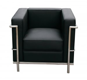 Italian Leather Chair Living Room Stainless Steel