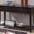 Modern Cappuccino Maple Veneer Console Table w/ Drawers