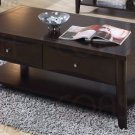 Modern Cappuccino Maple Veneer Coffee Table w/ Drawers